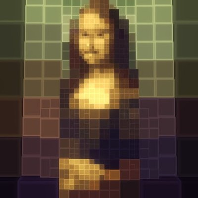 Voxel Mona Lisa