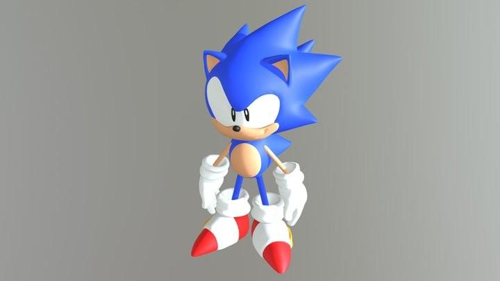 Artstation Sonic The Hedgehog Mania Style Model Jonathan Alex