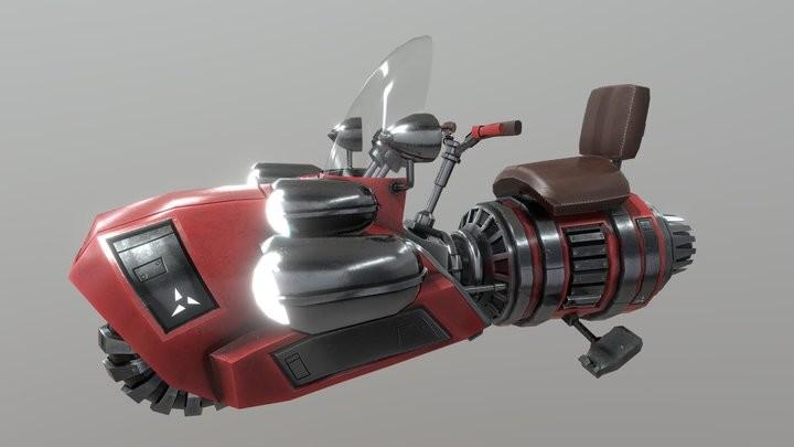 Retro-Futuristic Hoverbike