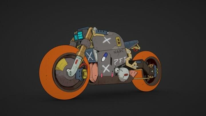 Cyberpunk bike