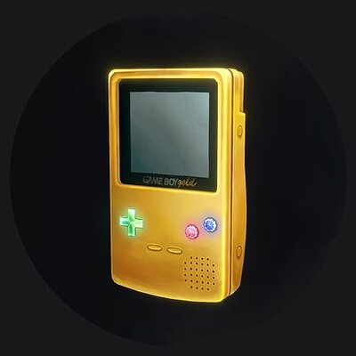Hand Painted Gameboy - Gold Edition