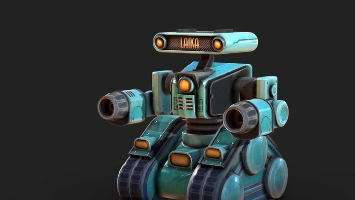 Retro Mining Robot