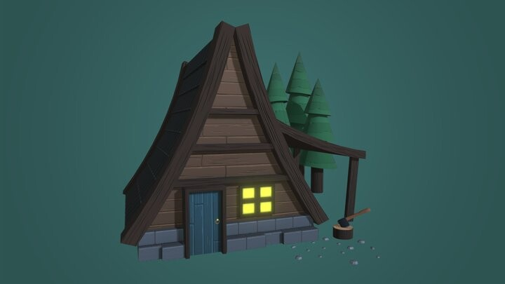 Stylised Log Cabin
