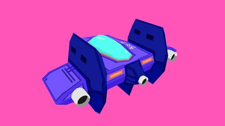 R-Zero: BC Starhunter - Lowpoly Spaceship