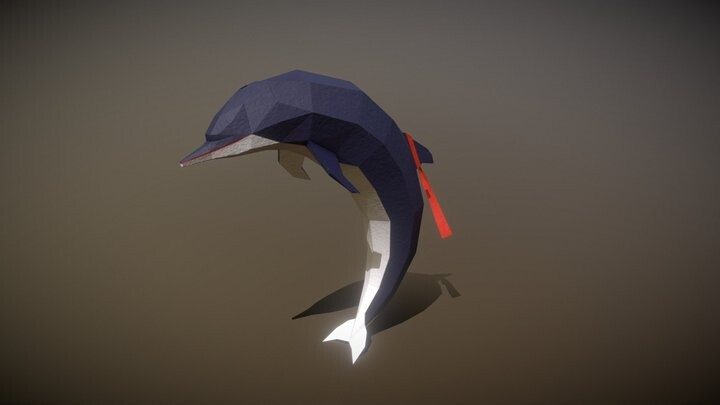 Paper dolphin