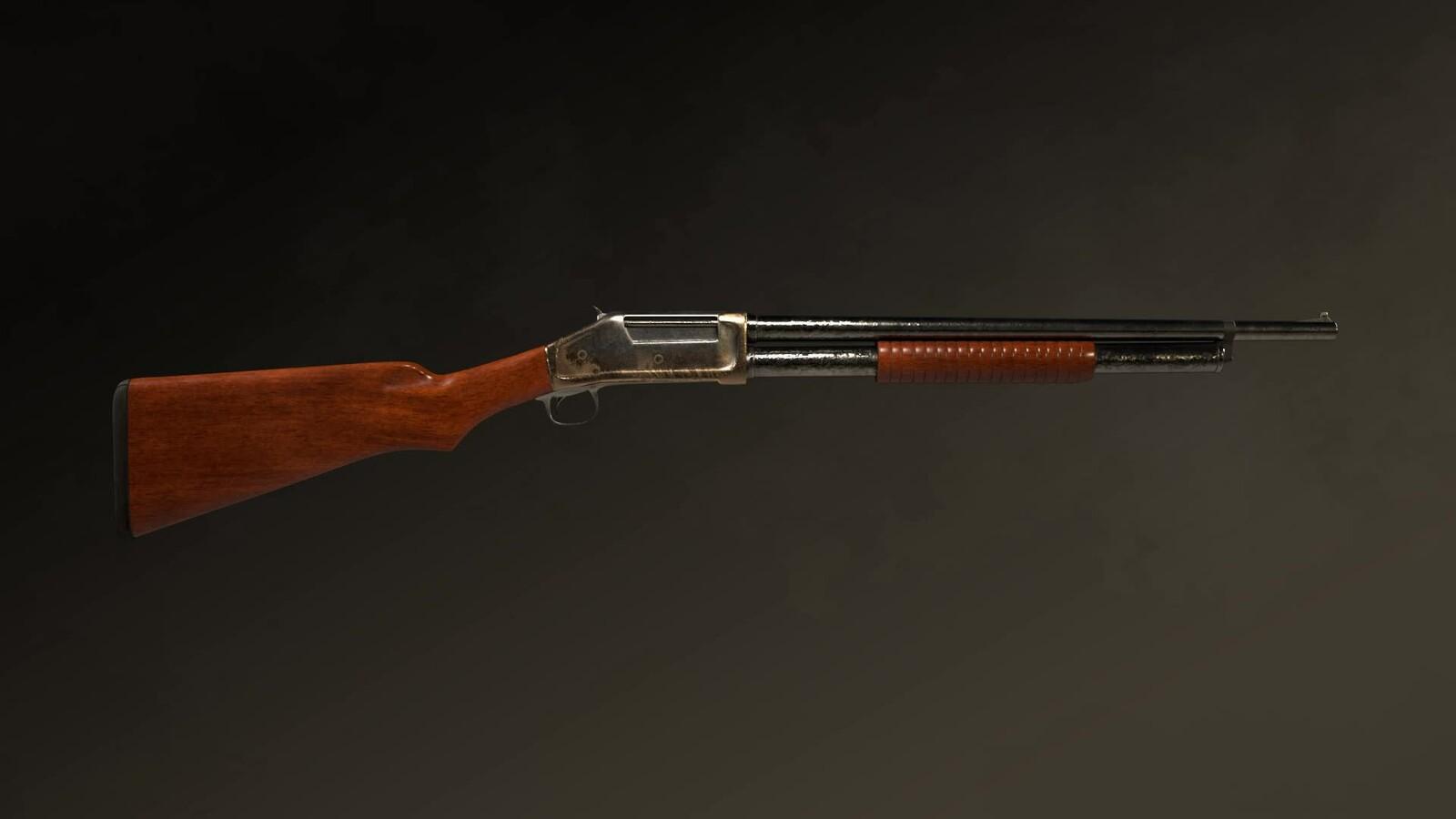 Winchester 1987 Pump-Action shotgun