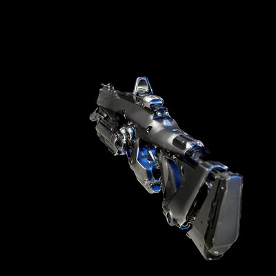 Asura rifle texturing and redering