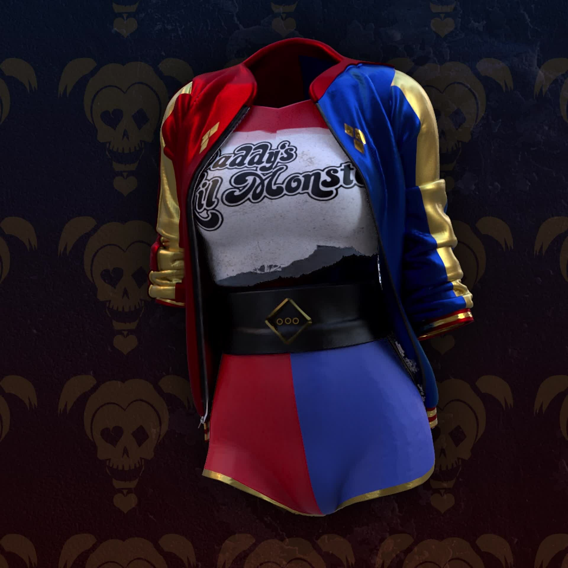 Harley Quinn Outfit (Marvelous Designer)