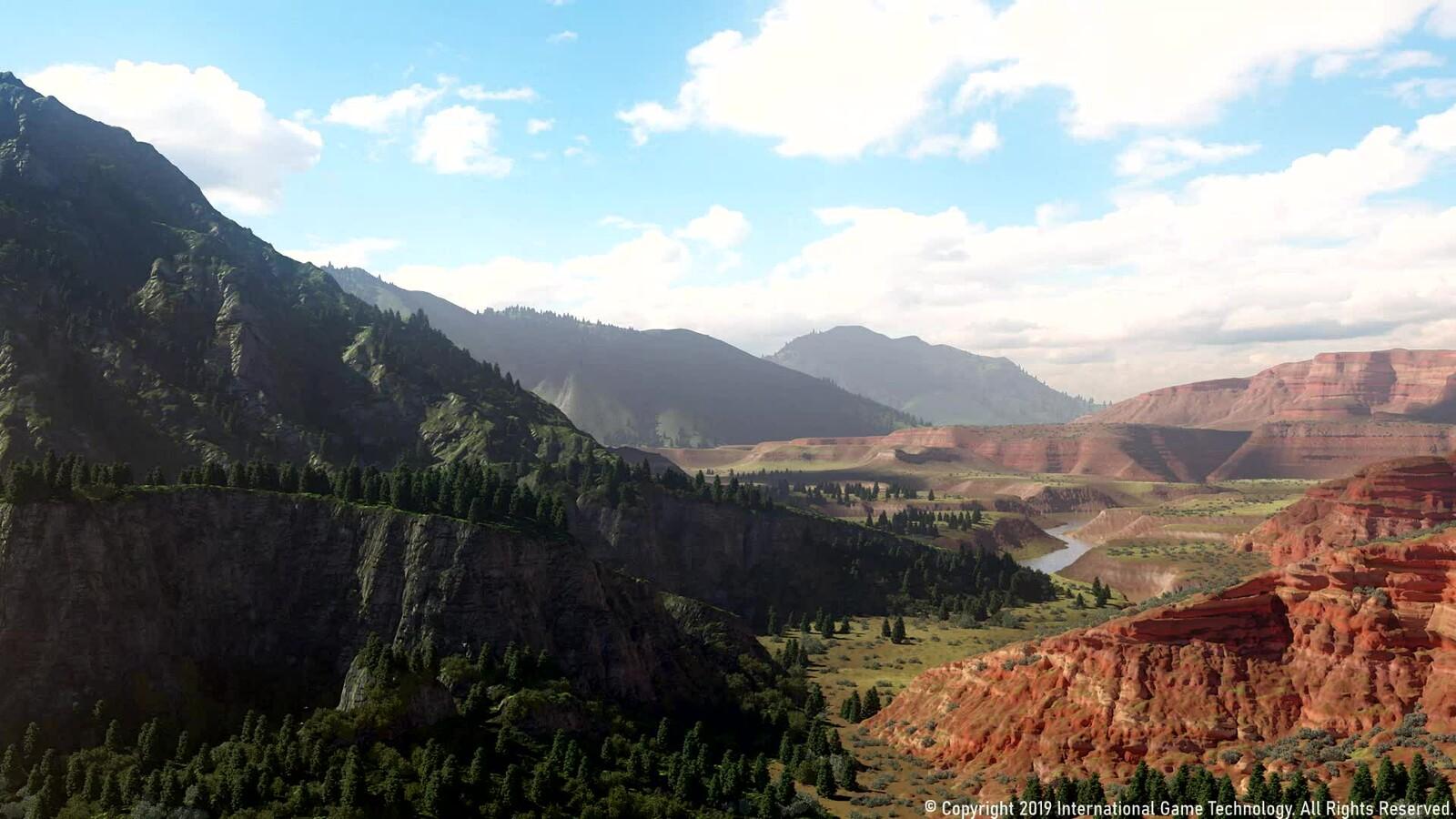 3D Western Panorama