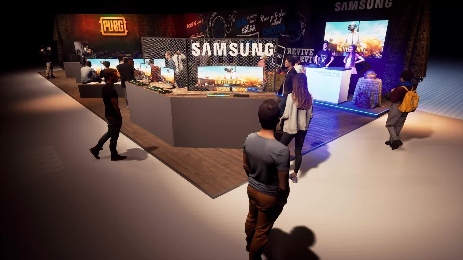 Samsung Booth @ Dreamhack Leipzig 2020 Germany
