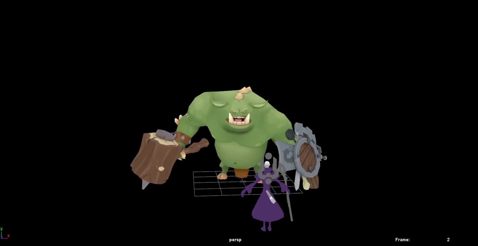 Ogre for unreleased mobile title.