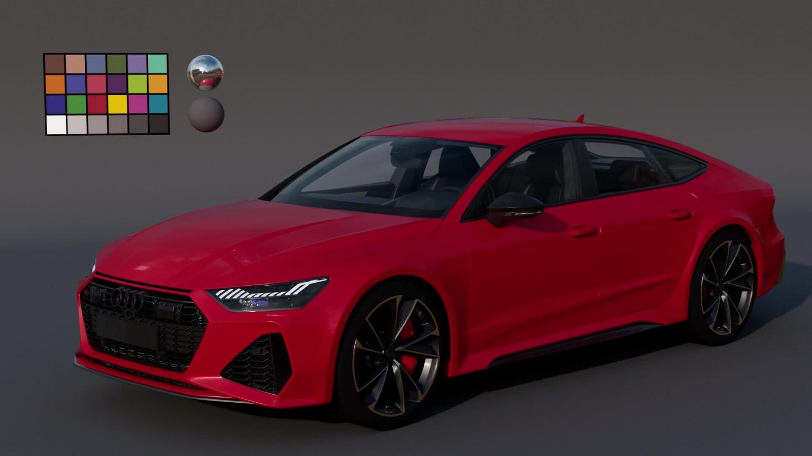 Audi RS7 Lookdev