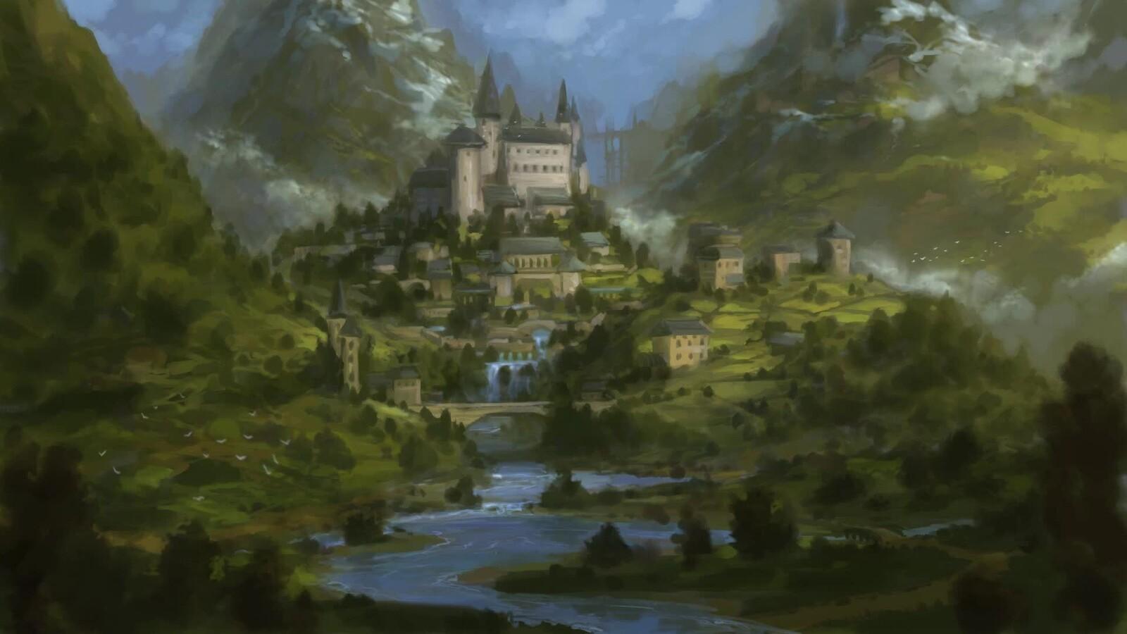 Fantasy Castle - sketch