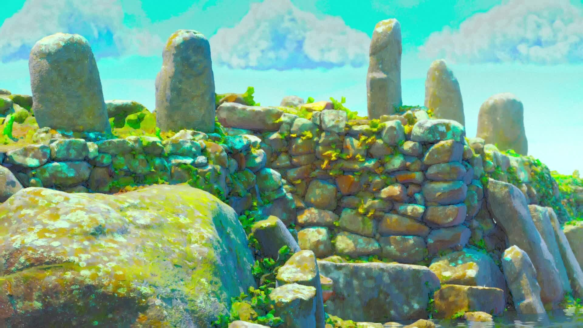 Stone Ruins II - (Stylized 3D Environment Rendering - 2021)