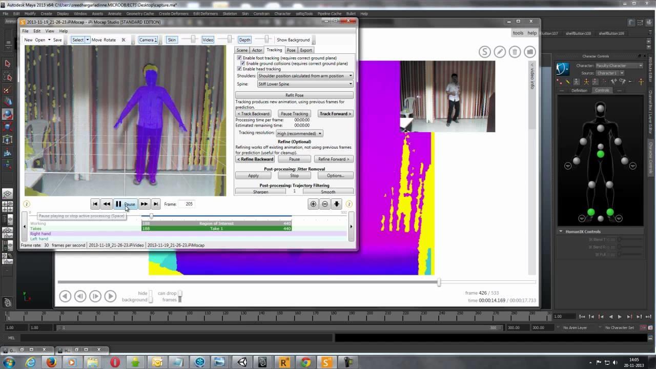 ArtStation - Kinect motion capture, sreedhar g