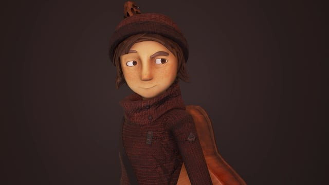 Mina - Realtime Animated Short Protagonist