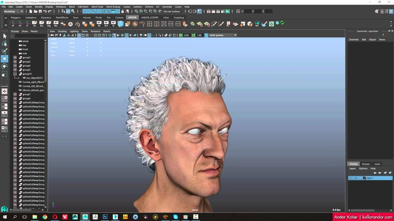 ArtStation - Tutorial - Fast Way to Create Polygon Hair for ...