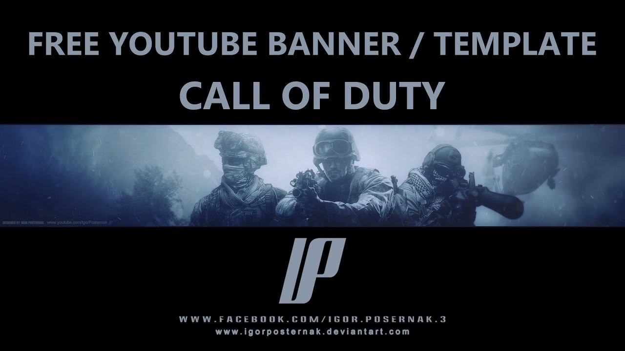 artstation call of duty free youtube banner template igor posternak