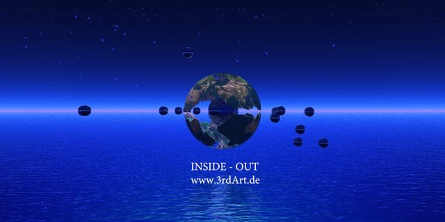 360VR Animation Inside-Out, the blue planet