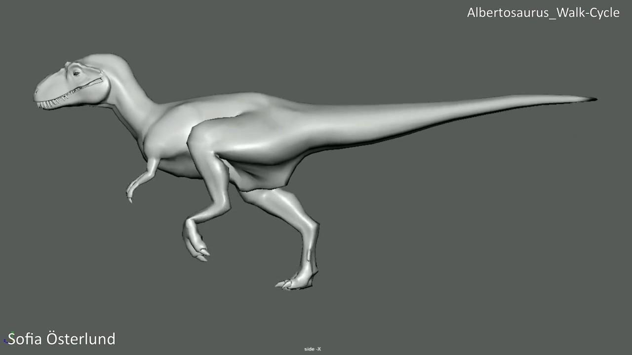 Albertosaurus Walk-Cycle
