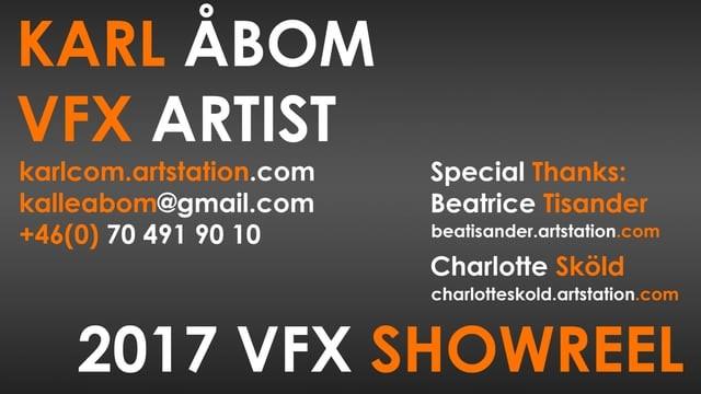 VFX Showreel 2017
