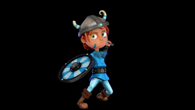 Viking - Character Design 2D & 3D animation