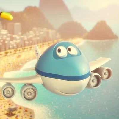 KLM - Bluey Keeping it Cool in Rio de Janeiro