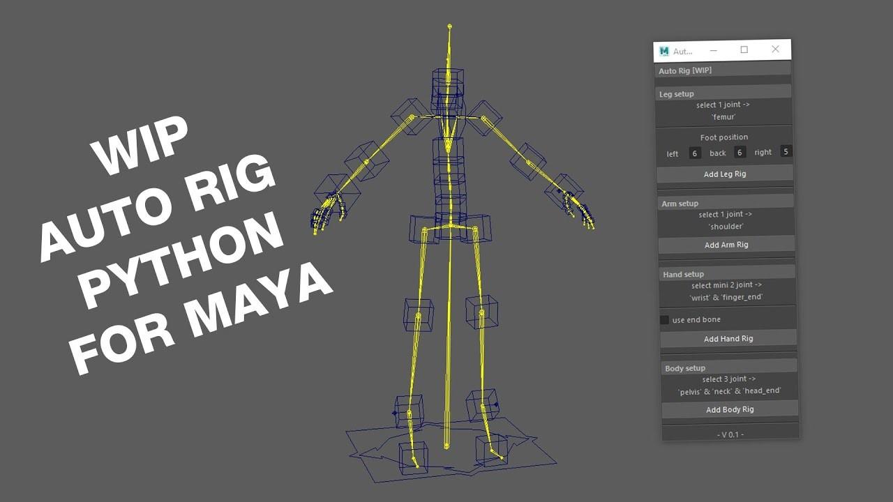 ArtStation - Auto Rig Python for Maya [WIP], Thomas VIALETTO