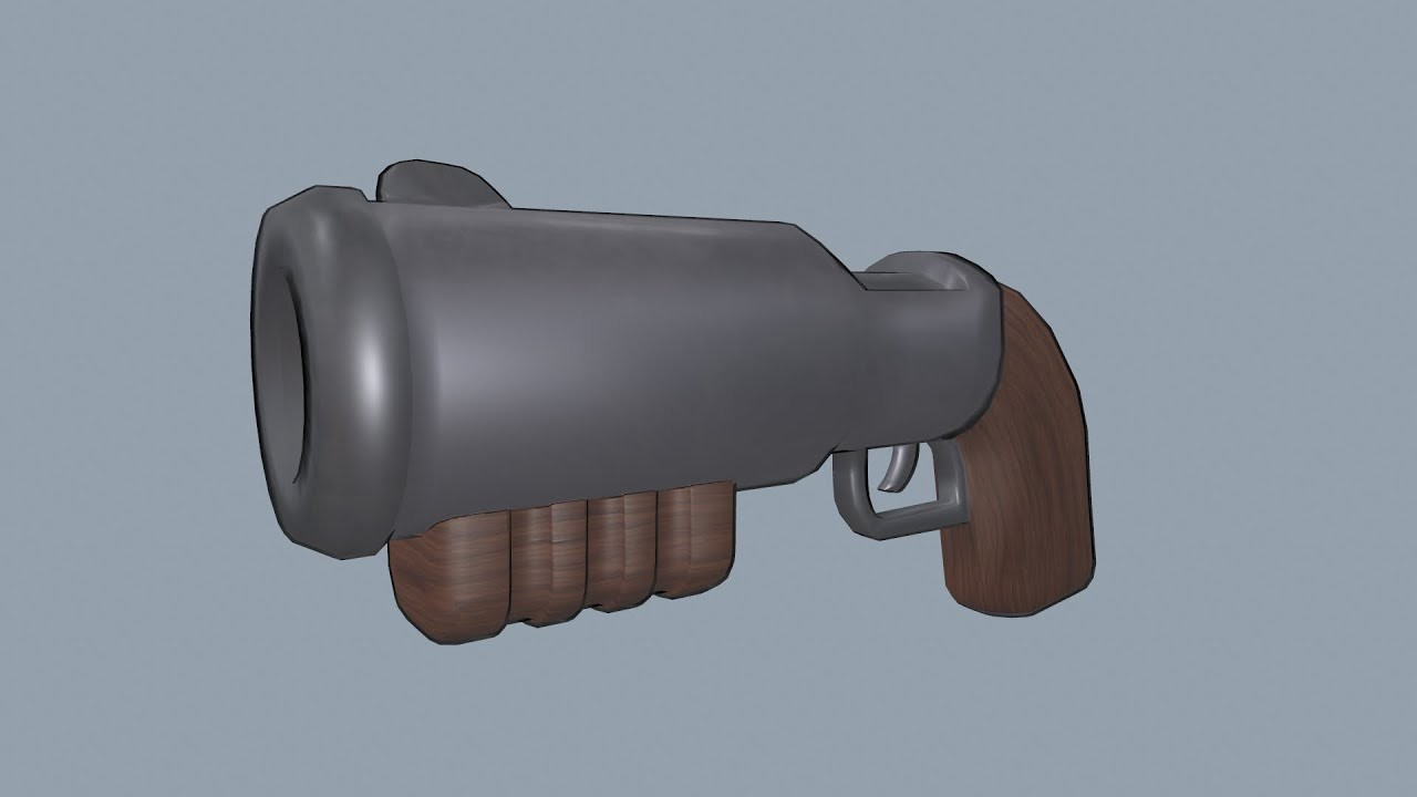 Low Poly Weapon: Shelly's Shotgun