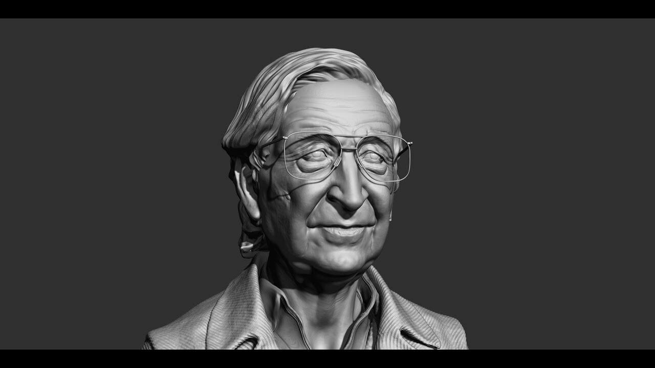 work in progress Likeness Noam Chomsky