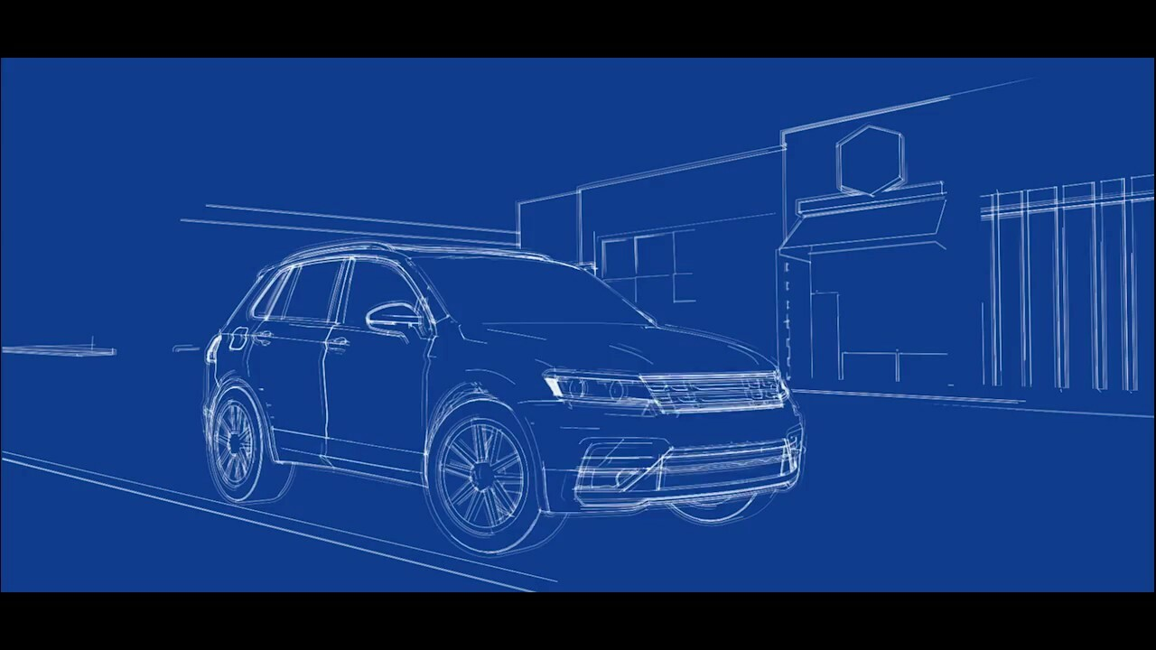 VW Tiguan Announcement Animation