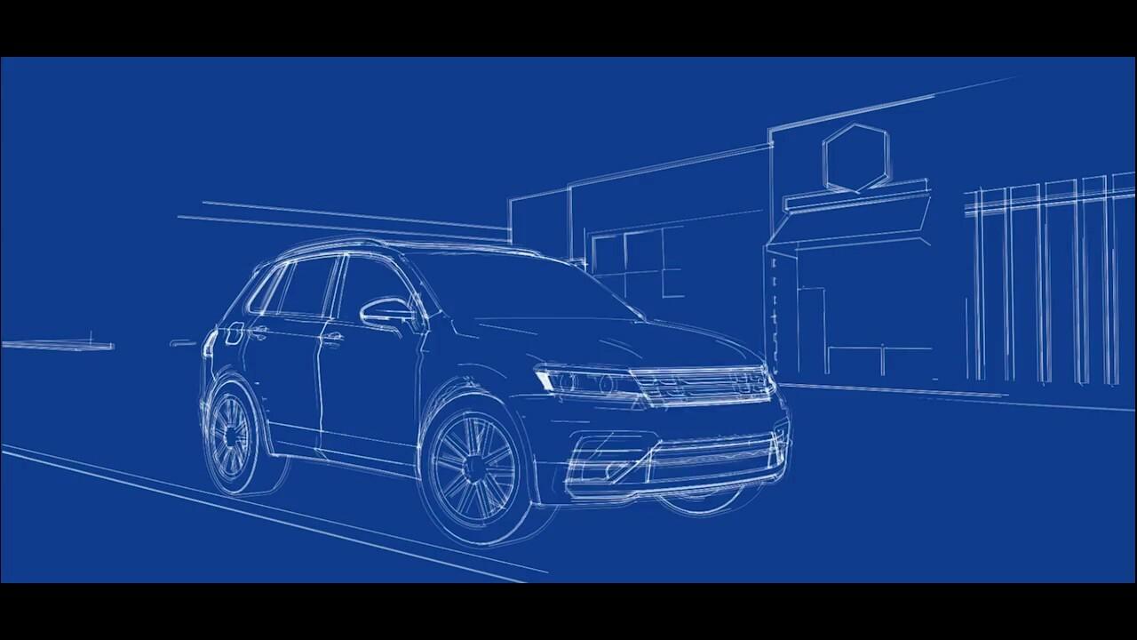 VW Tiguan Announcement Animation
