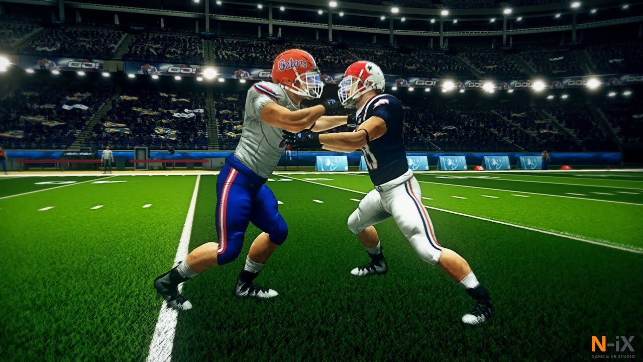 Football training simulation