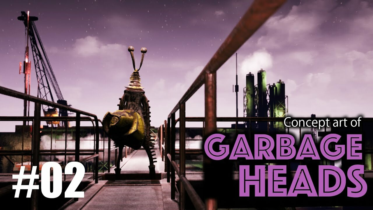 """The Concept Art of """"Garbage Heads"""" #02"""