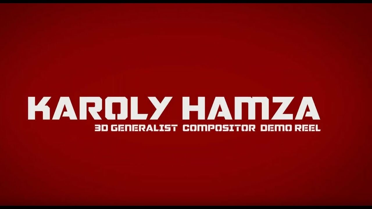 Karoly Hamza Demo Reel -  Short selection from the last years mainly commercials. 2007-2018