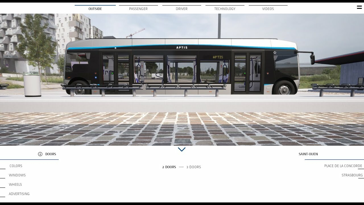 Aptis Bus - Commercial 3D Configurateur