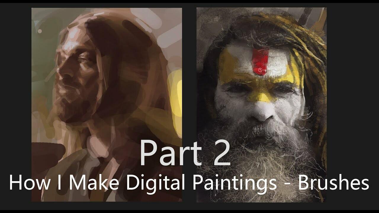 How I Make Digital Paintings | Brushes - part 2