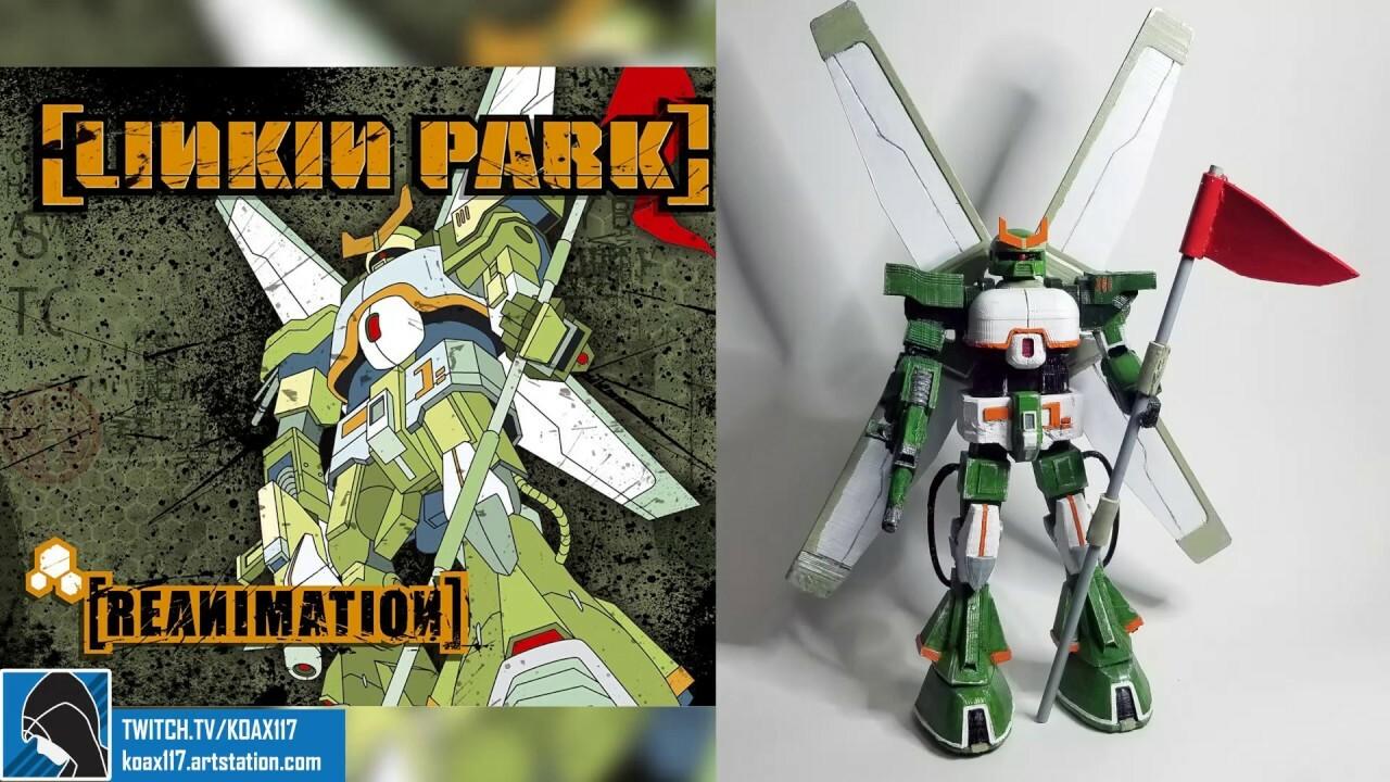 Linkin Park Reanimation Gundam Fan Art