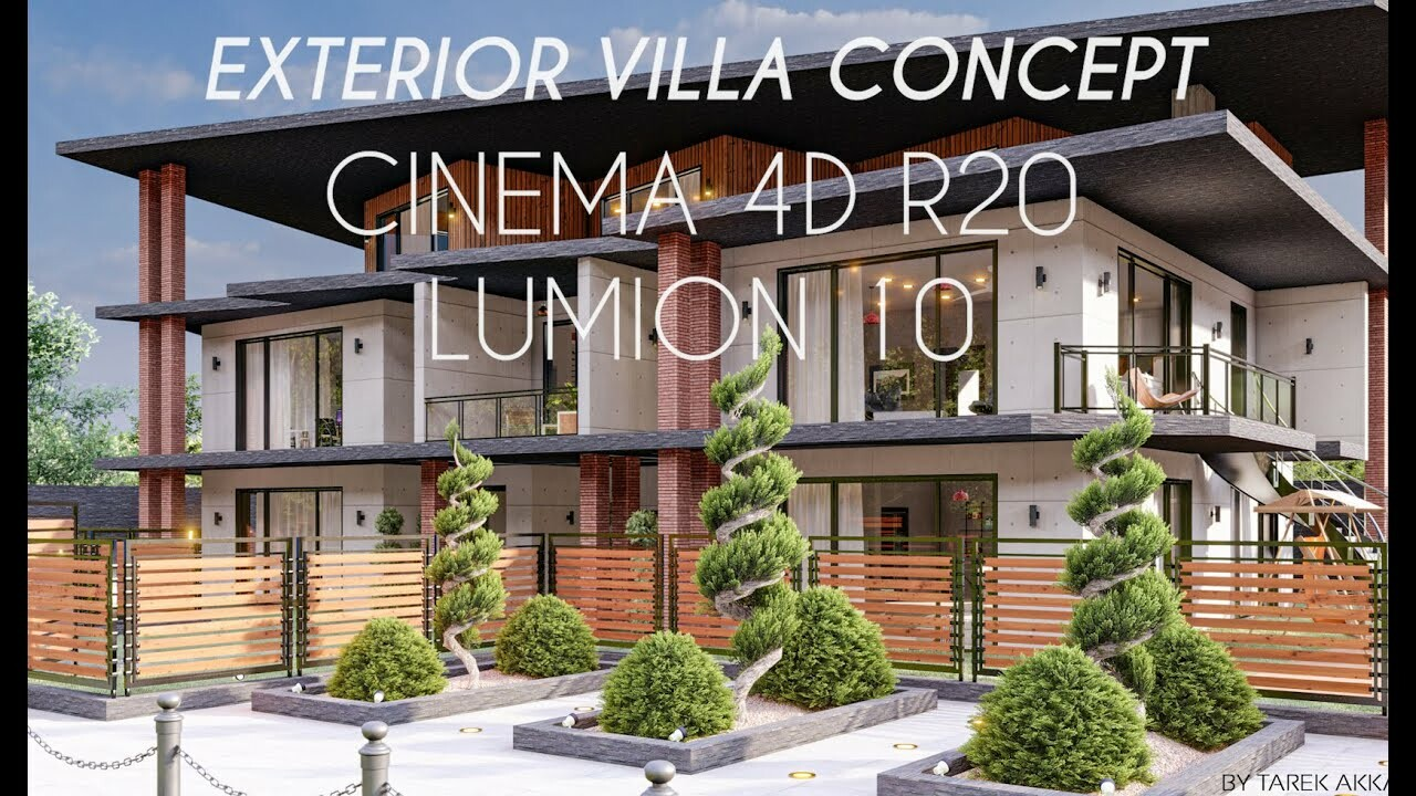 3D architectural Visualization House Make off