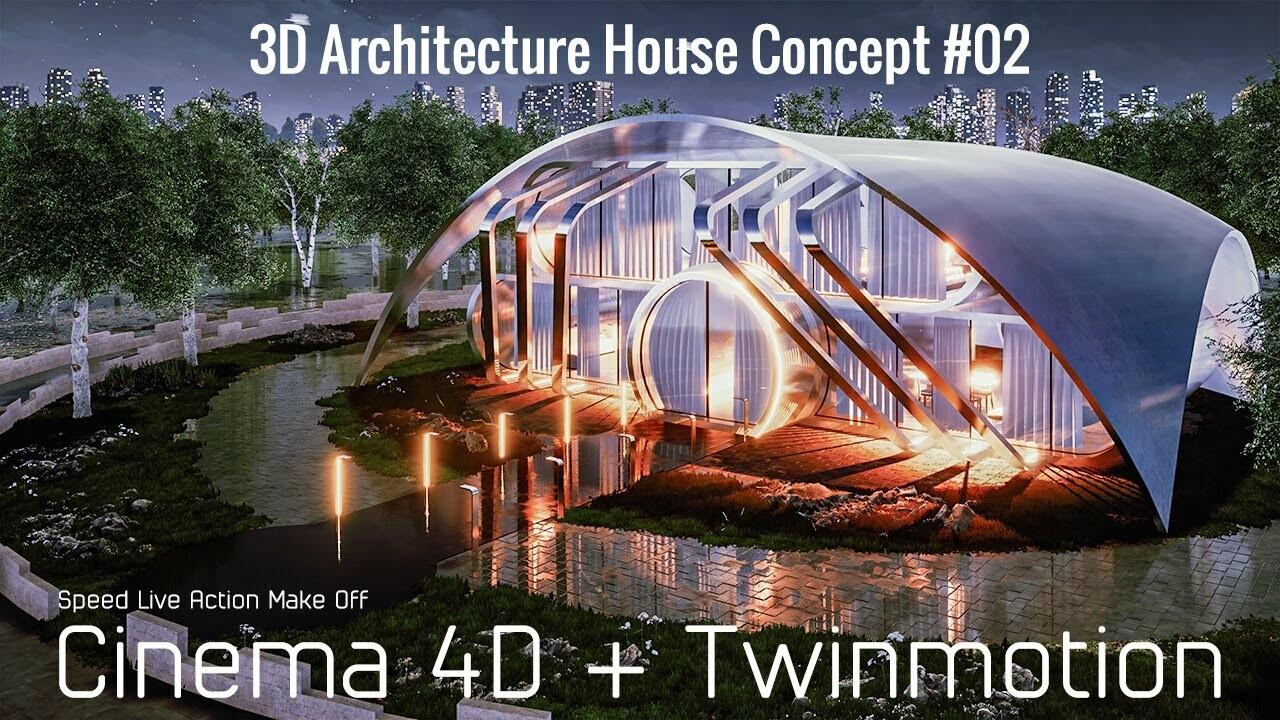 3D Architecture House Concept #02
