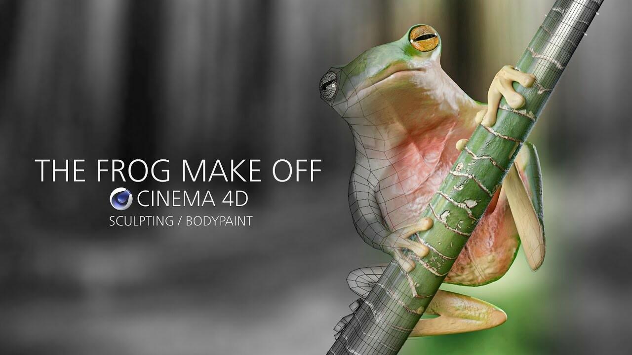 The Frog make off speed modeling - CINEMA 4D