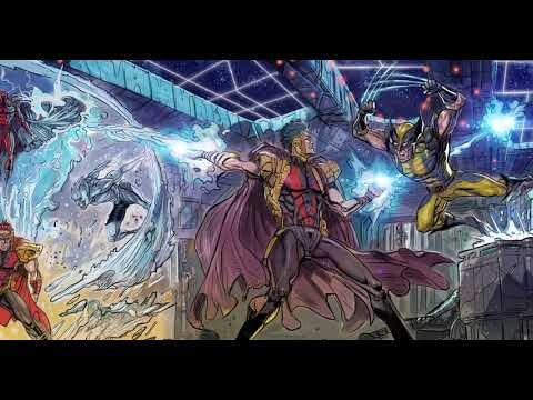 X-Men - Mutant Insurrection: Magneto Showdown (4 panels tracking shot)