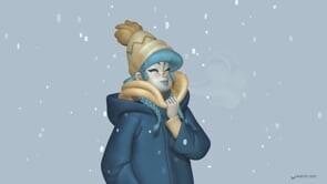 Blue Winter | schmoedraws | Study