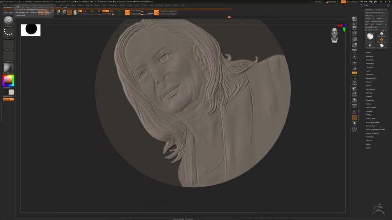 Biden/ Harris bas-relief sculpture