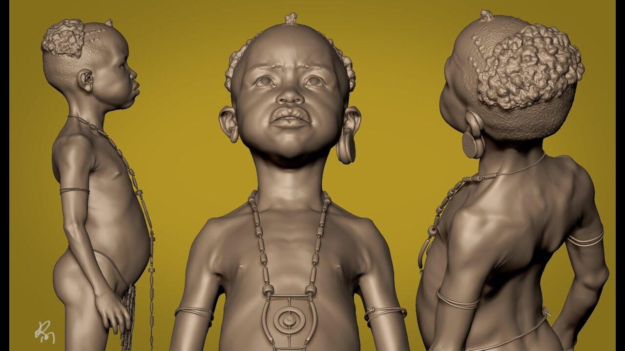 Afro kid Timelapse Part_01