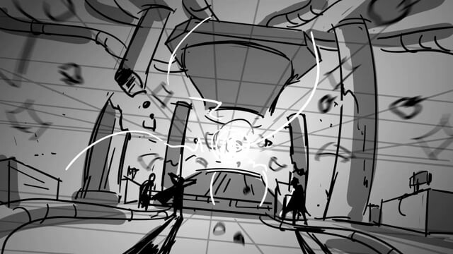 Action Storyboard Test -- ScoobyDoo & Batman: The Brave and the Bold