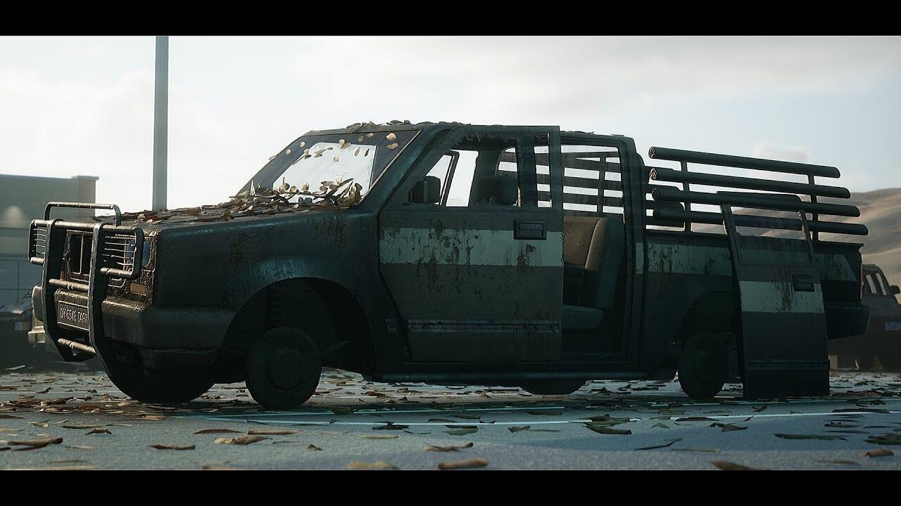 Post-Apocalyptic Pickup Truck