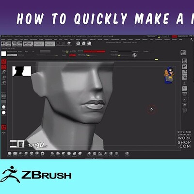 How to quickly make a mouth in ZBrush (Tutorial)