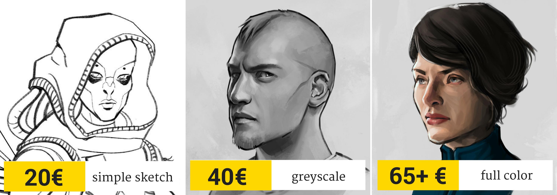 Auftragsarbeiten Charakter Portrait