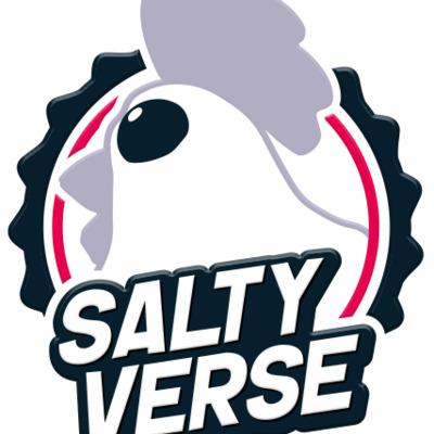 Salty verse chicken logo black